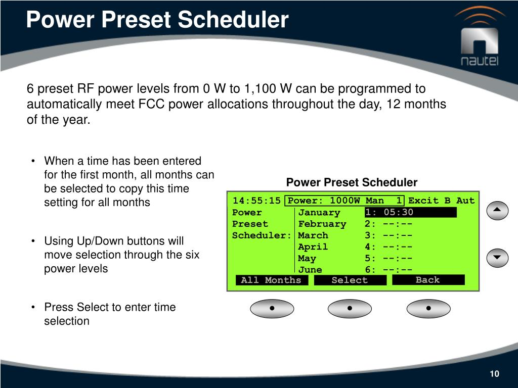 Power Preset Scheduler