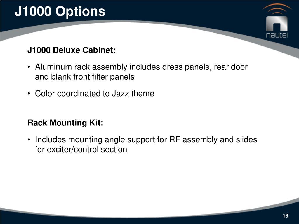 J1000 Options