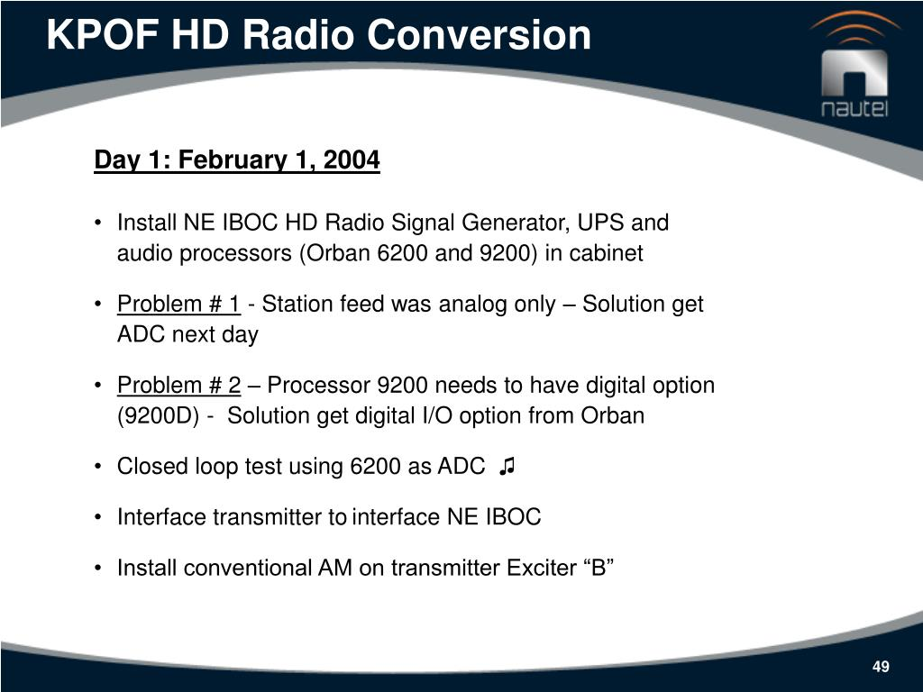 KPOF HD Radio Conversion
