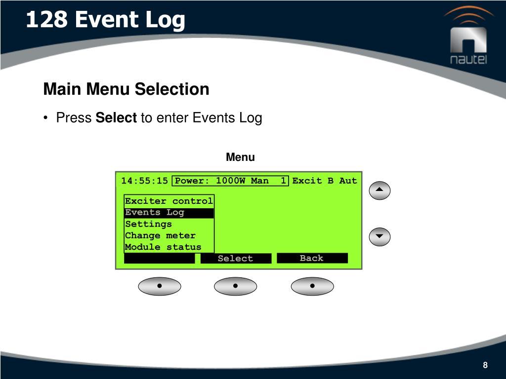128 Event Log