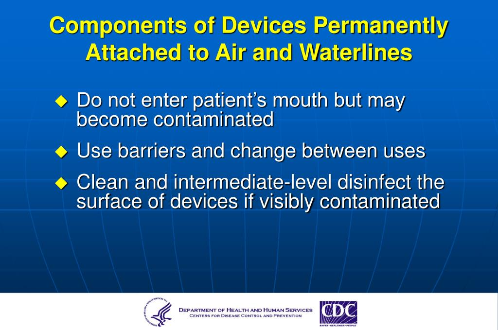 Components of Devices Permanently Attached to Air and Waterlines