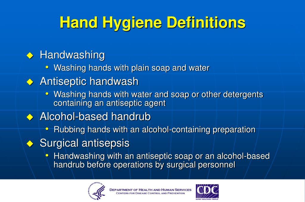 Hand Hygiene Definitions