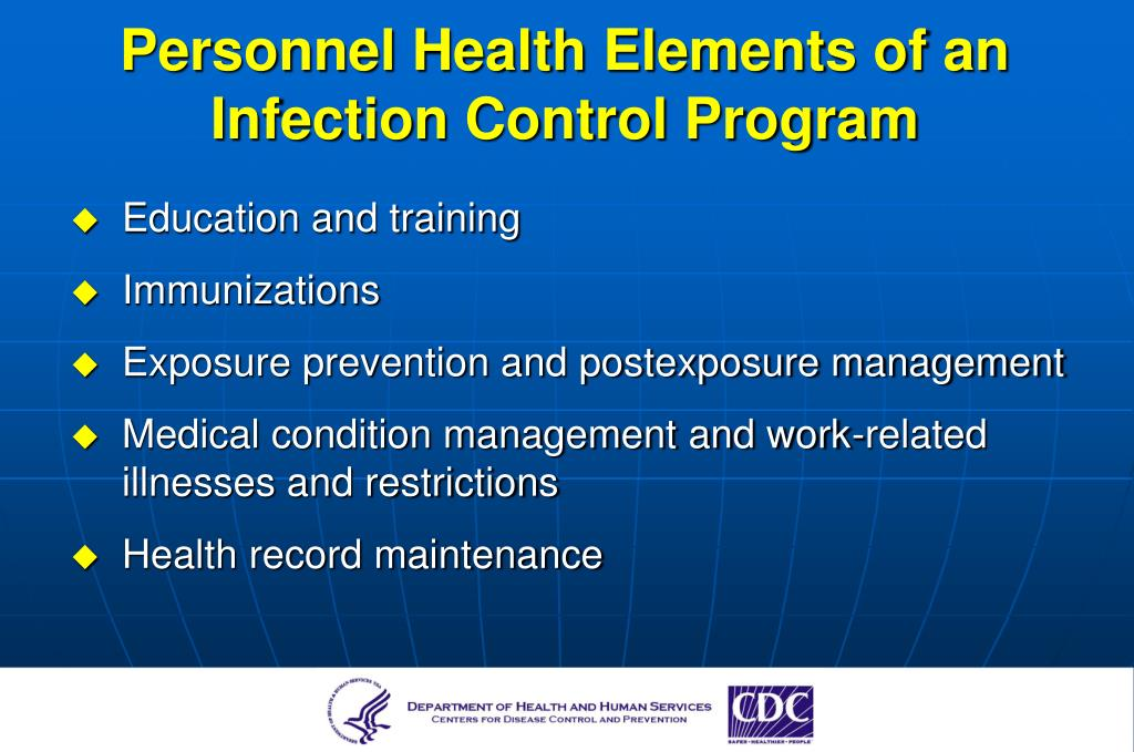 Personnel Health Elements of an