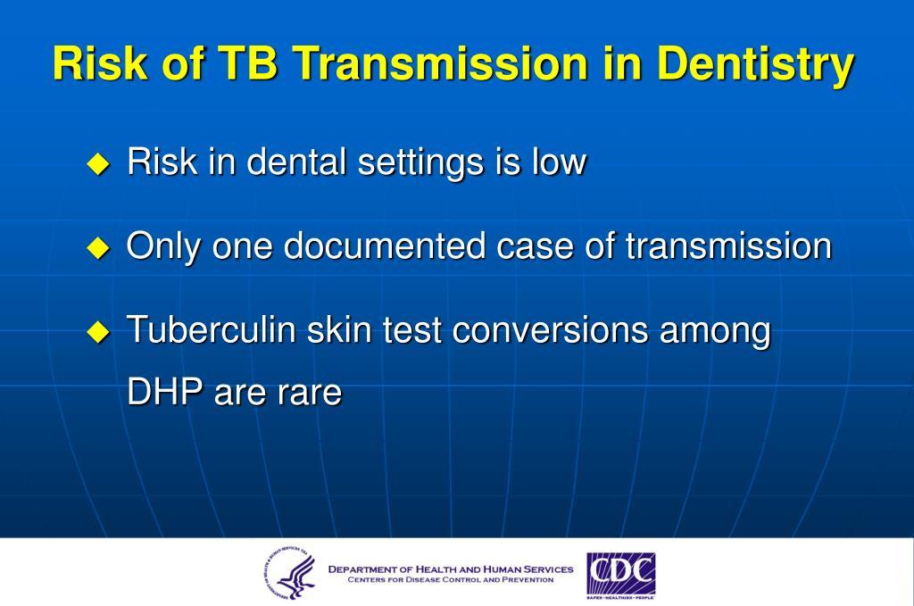 Risk of TB Transmission in Dentistry