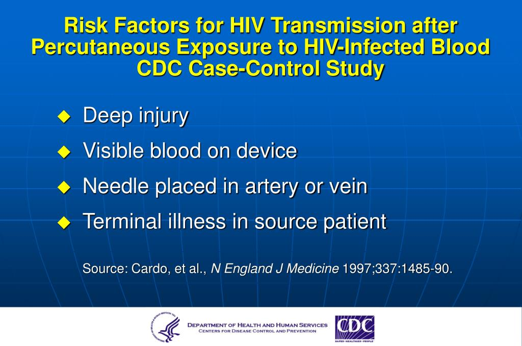 Risk Factors for HIV Transmission after Percutaneous Exposure to HIV-Infected Blood