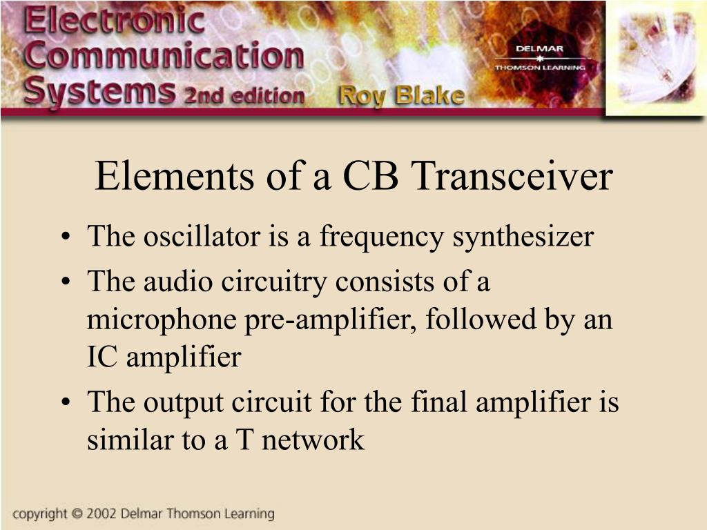 Elements of a CB Transceiver