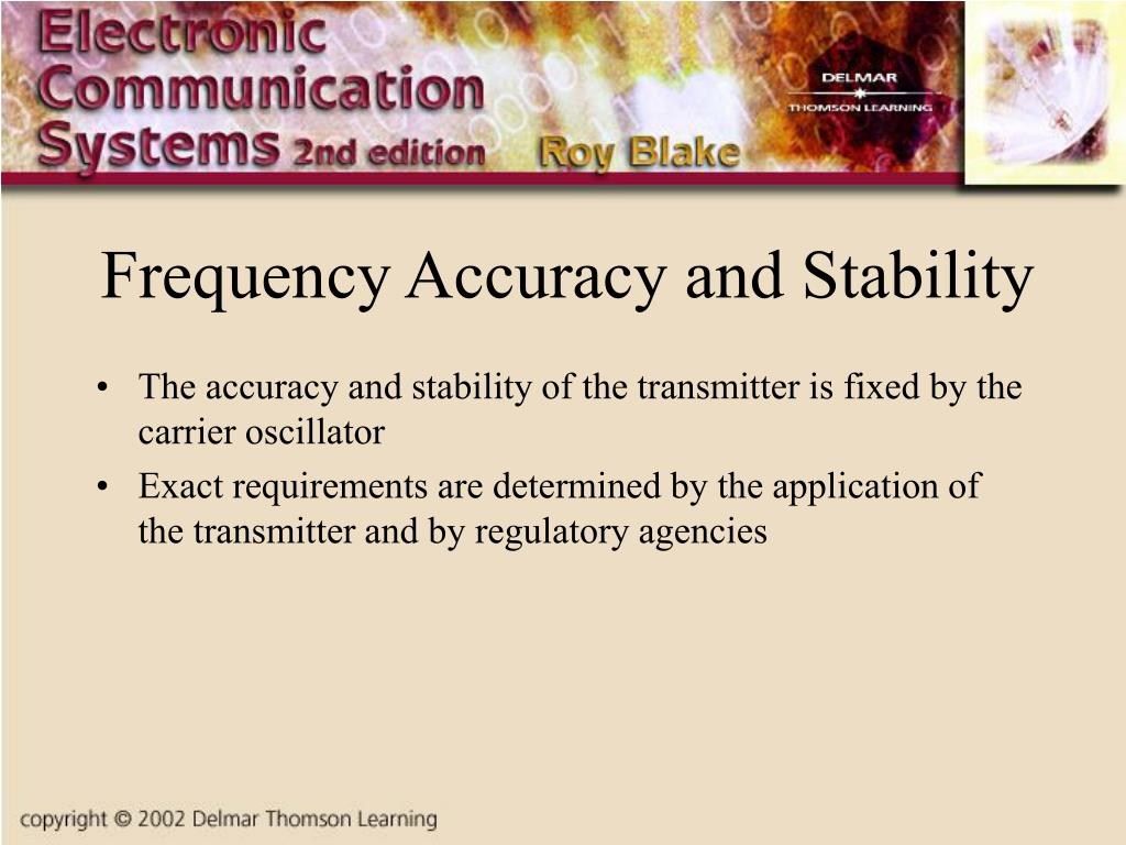 Frequency Accuracy and Stability