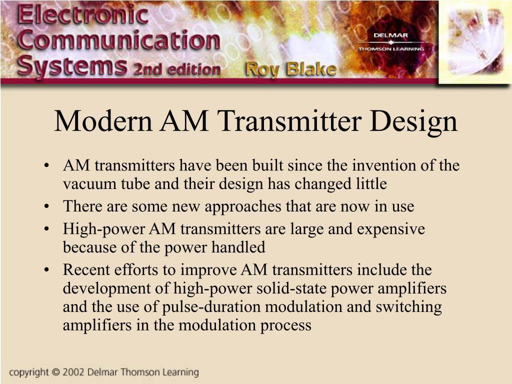 Modern AM Transmitter Design