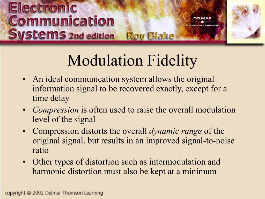 Modulation Fidelity