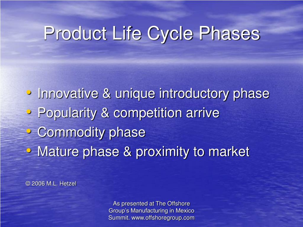Product Life Cycle Phases