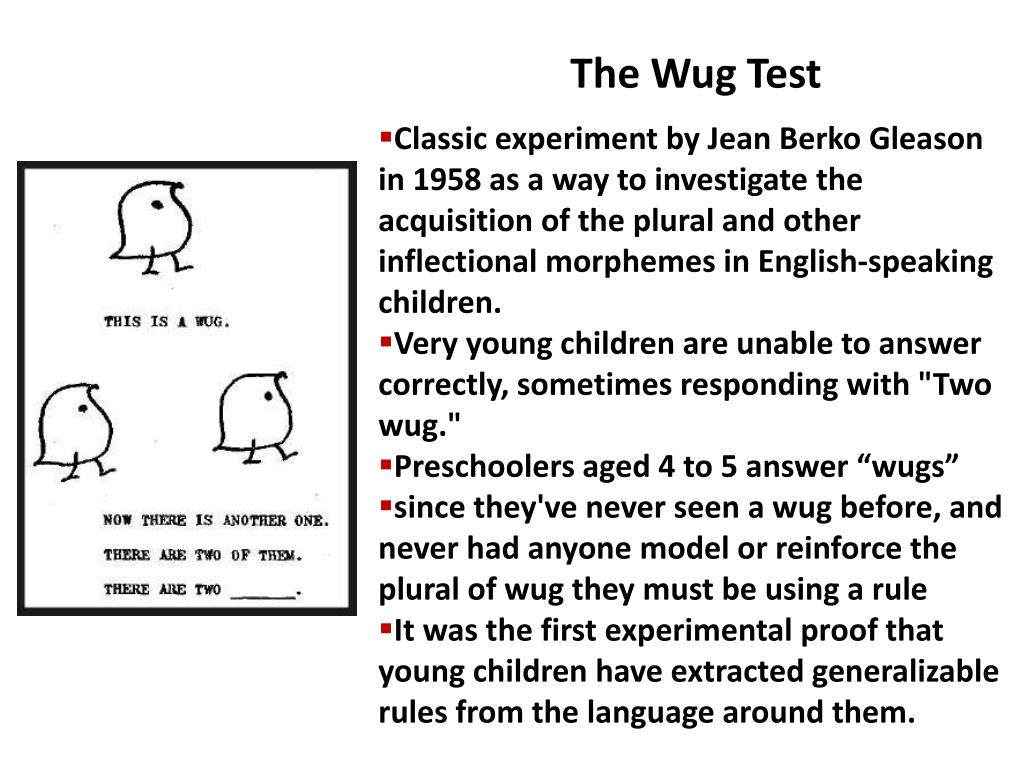 The Wug Test