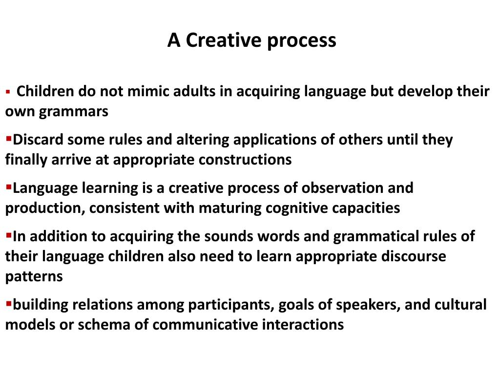 A Creative process