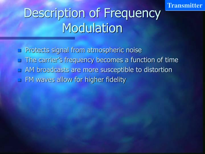 Description of frequency modulation