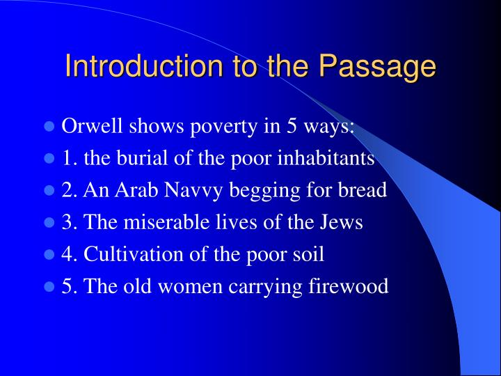Introduction to the Passage