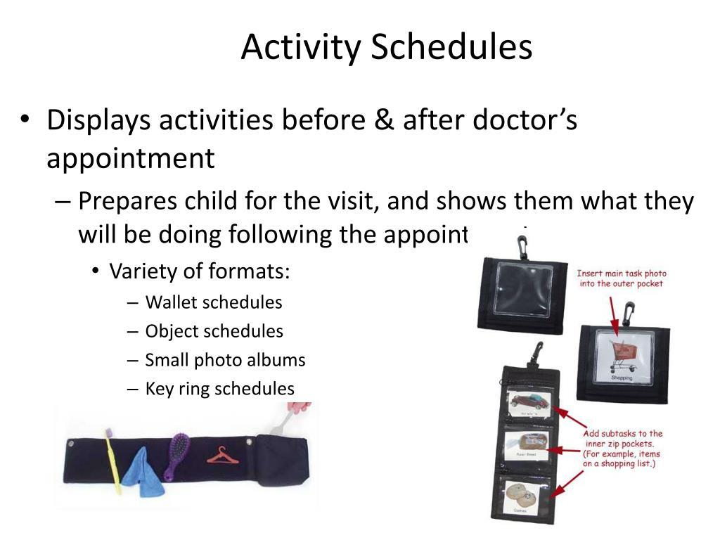 Activity Schedules