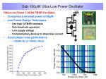 sub 100 w ultra low power oscillator