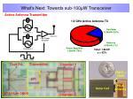 what s next towards sub 100 w transceiver