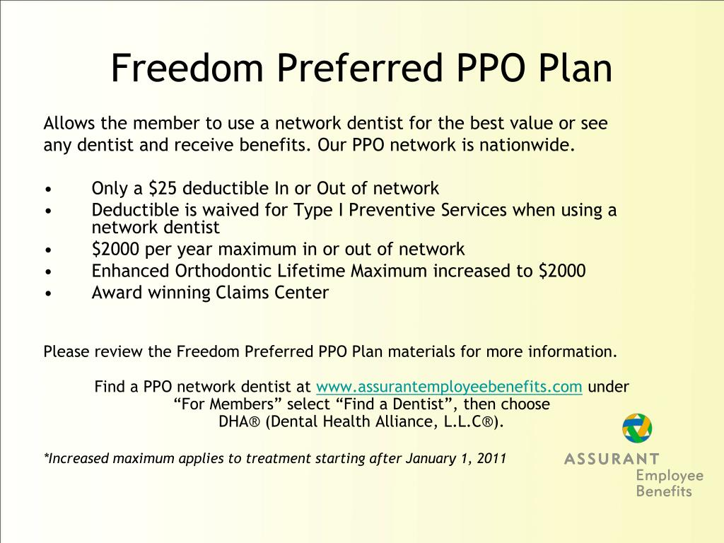 Freedom Preferred PPO Plan