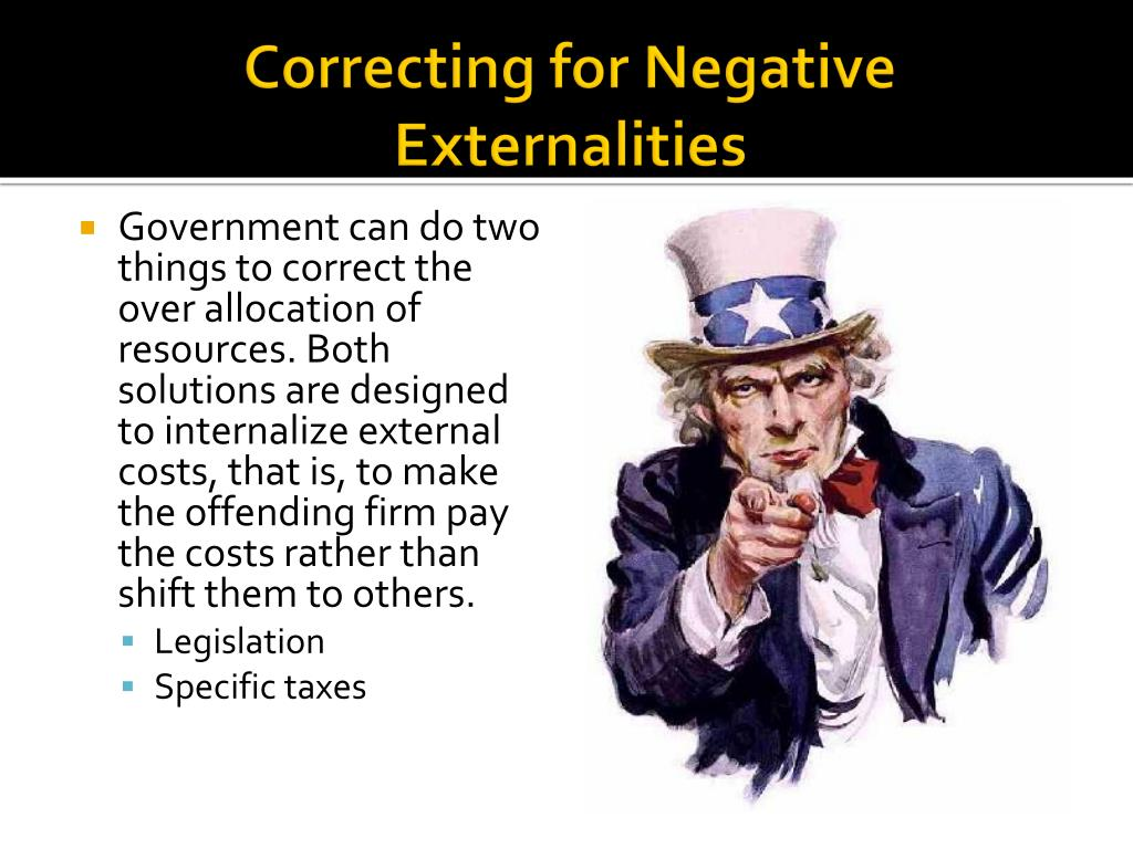 Correcting for Negative Externalities
