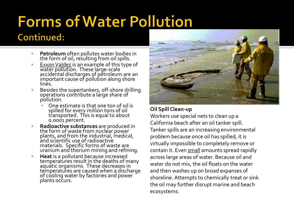 Forms of Water Pollution