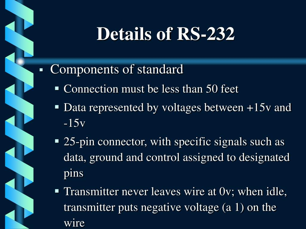 Details of RS-232