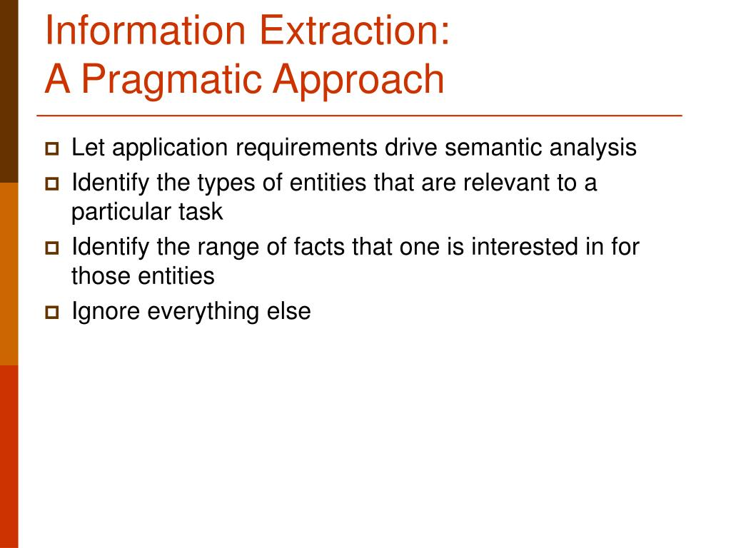 Information Extraction: