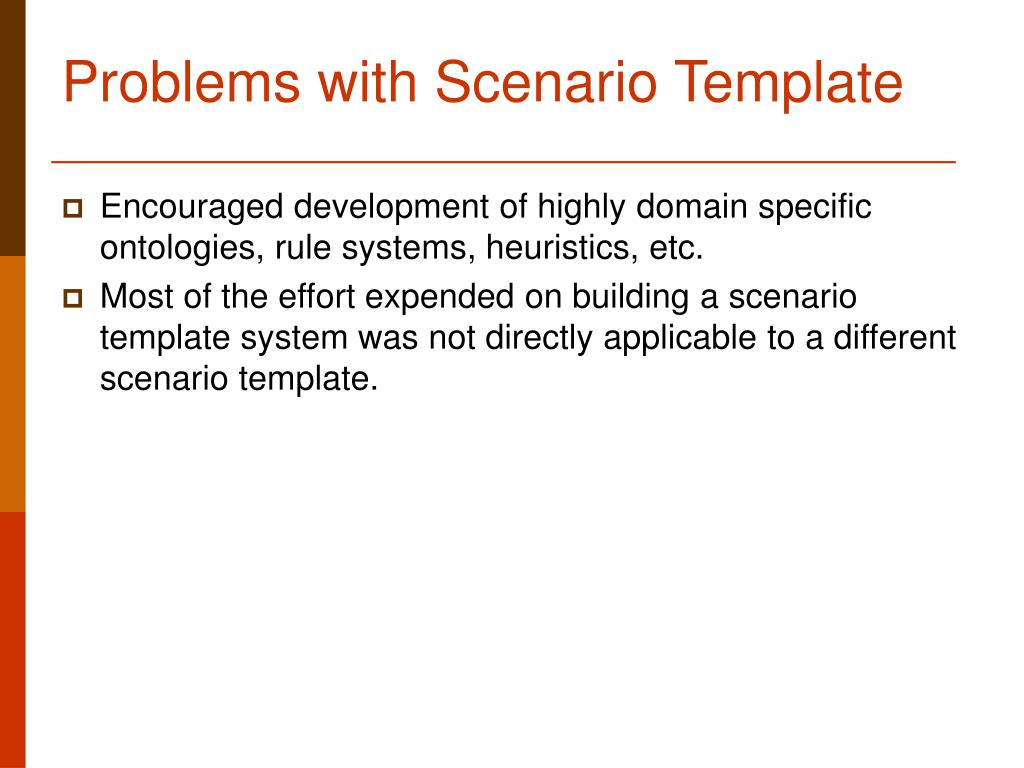 Problems with Scenario Template