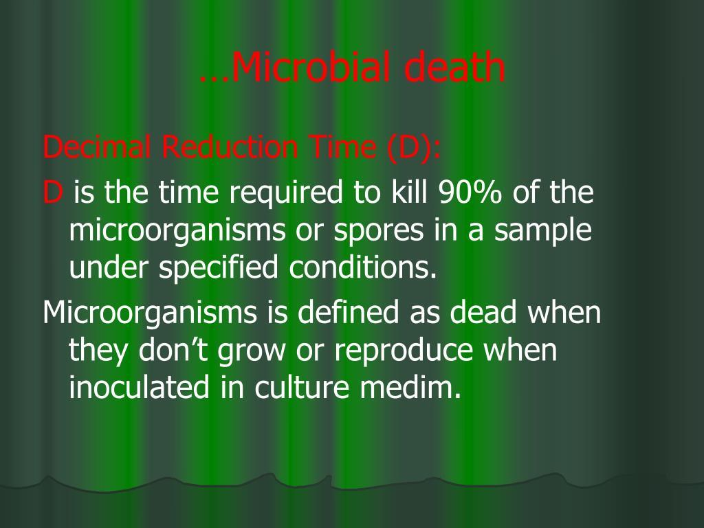 …Microbial death
