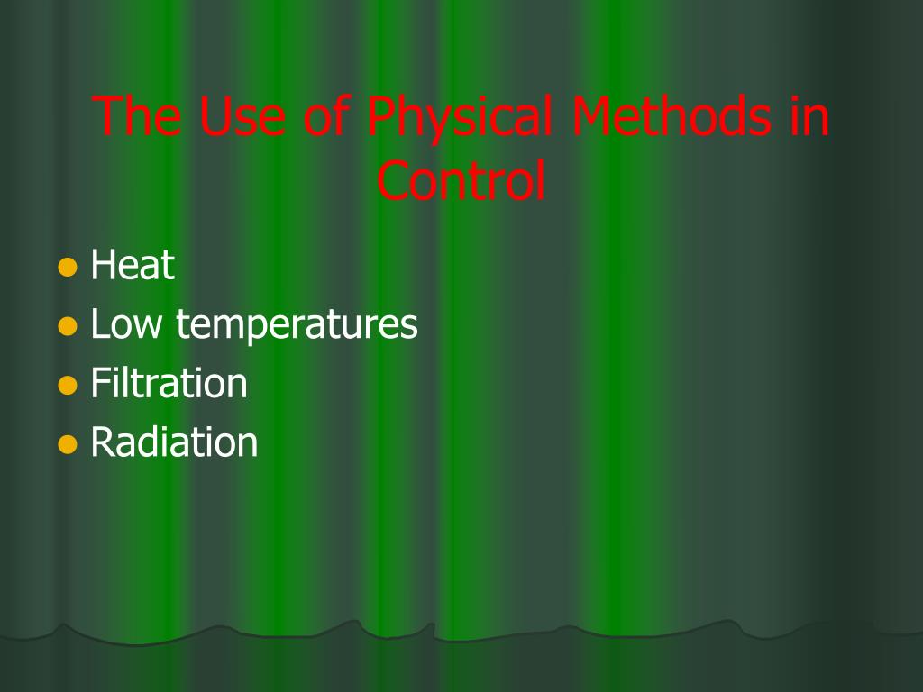 The Use of Physical Methods in Control