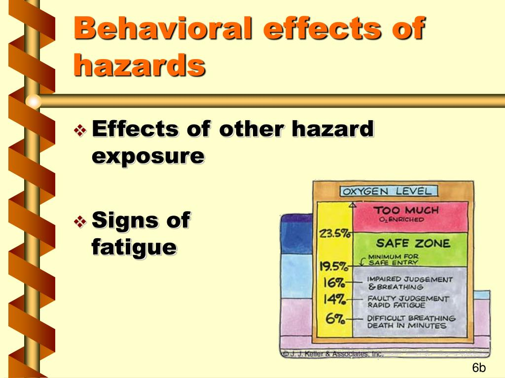 Behavioral effects of hazards