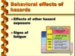 behavioral effects of hazards18
