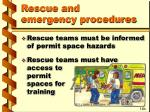 rescue and emergency procedures33