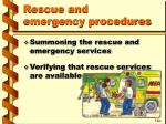 rescue and emergency procedures34