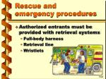 rescue and emergency procedures35