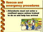 rescue and emergency procedures36