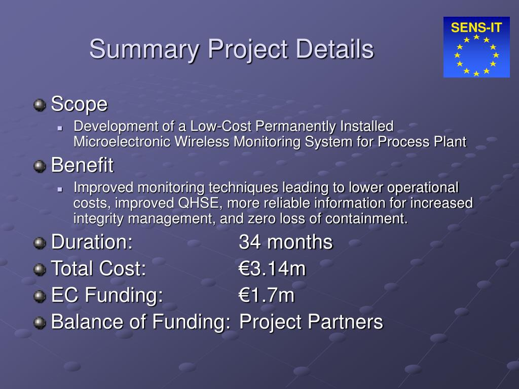 Summary Project Details