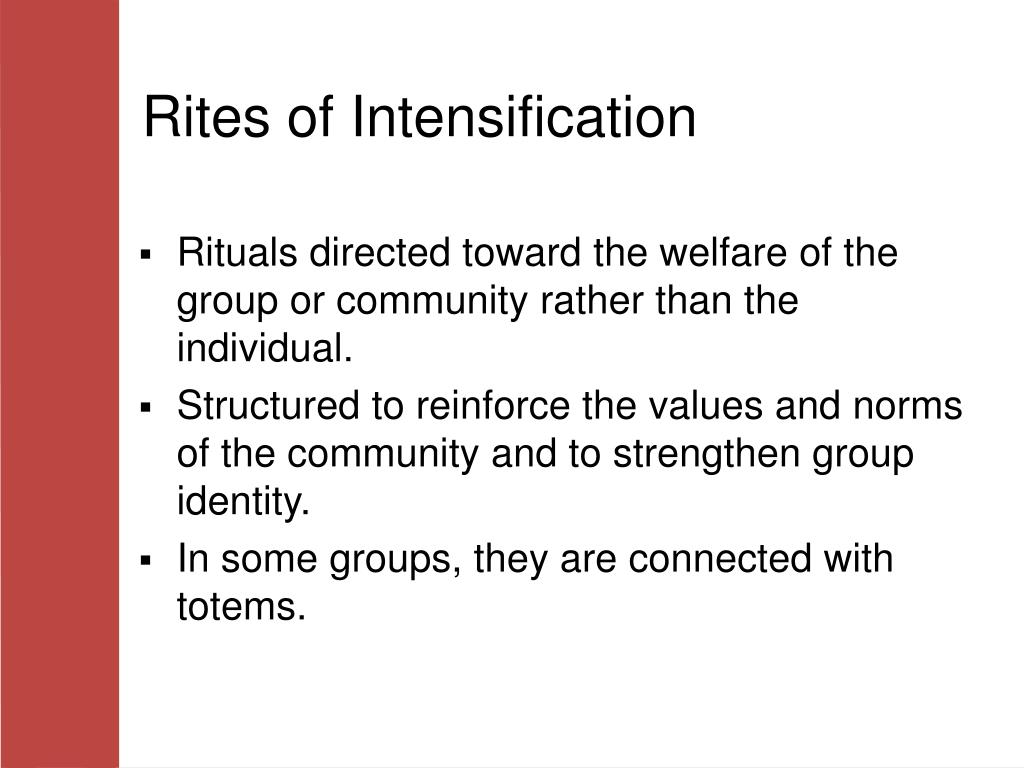 Rites of Intensification