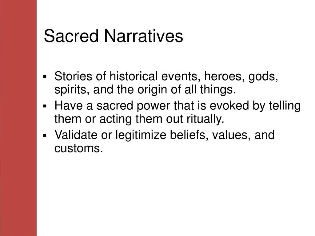 Sacred Narratives