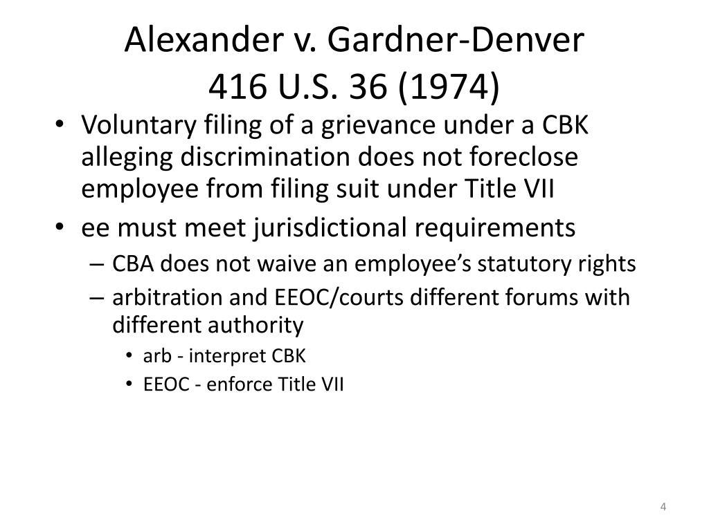 Alexander v. Gardner-Denver