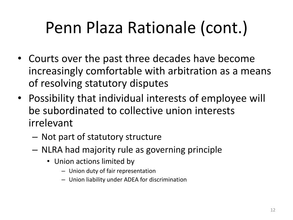 Penn Plaza Rationale (cont.)