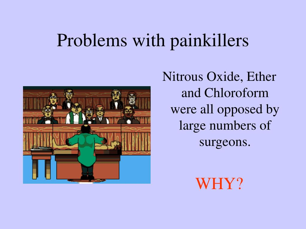 Problems with painkillers