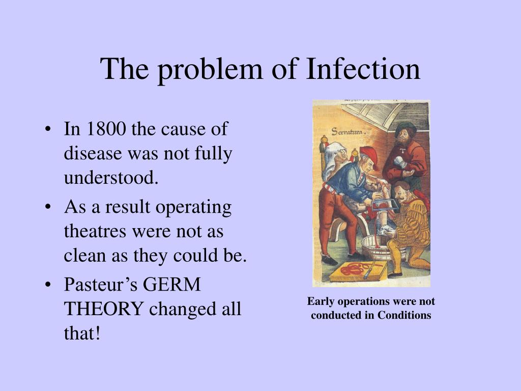 In 1800 the cause of disease was not fully understood.