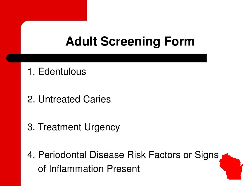 Adult Screening Form