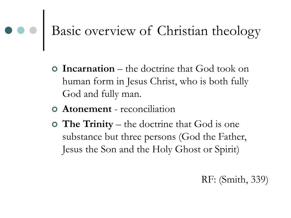 Basic overview of Christian theology