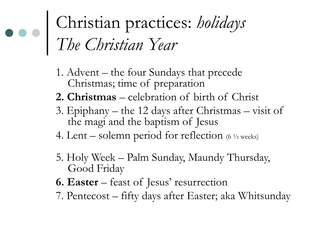 Christian practices: