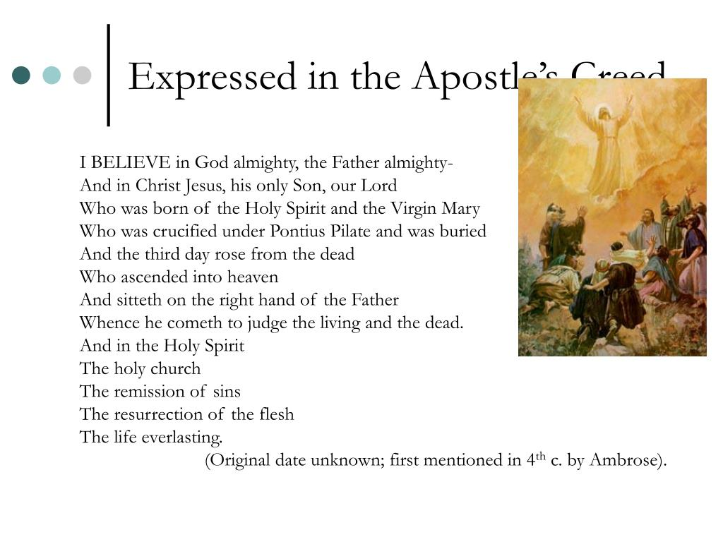 Expressed in the Apostle's Creed