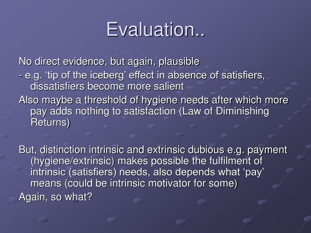 Evaluation..