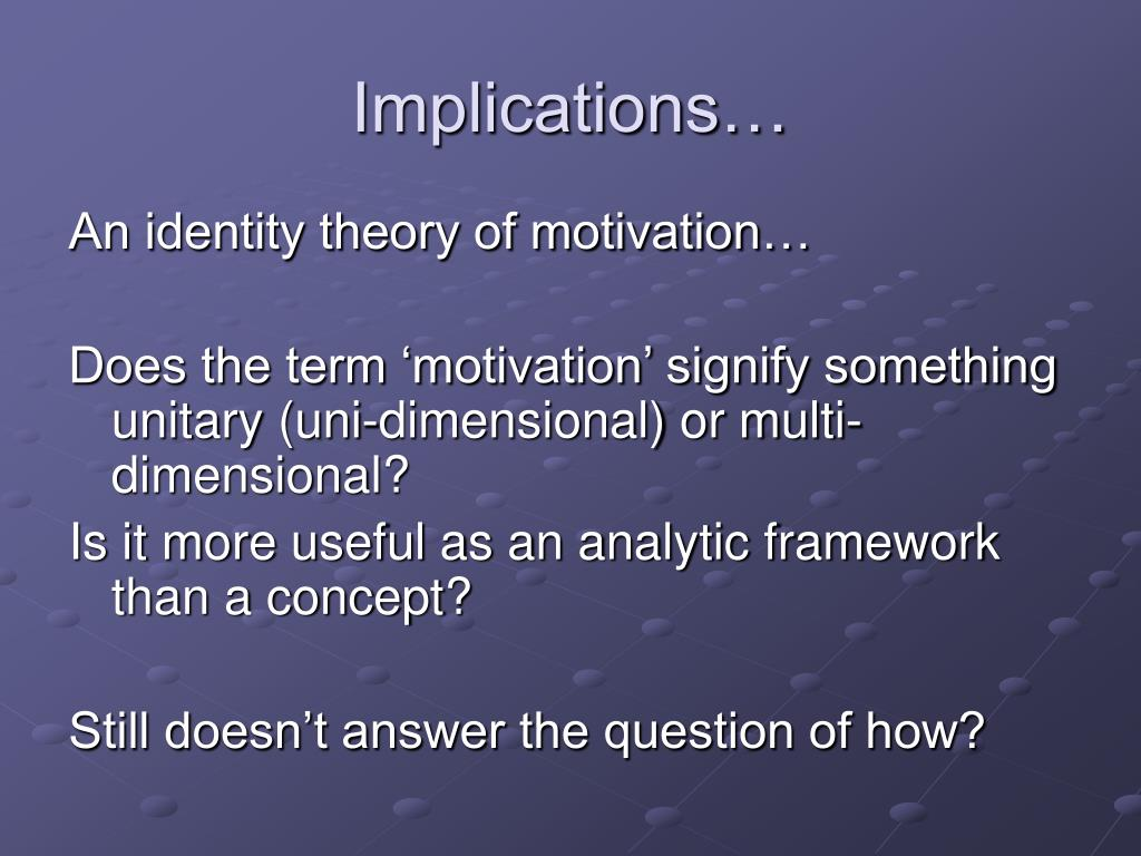 Implications…