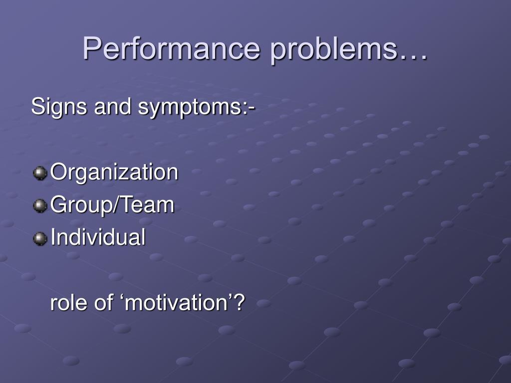 Performance problems…