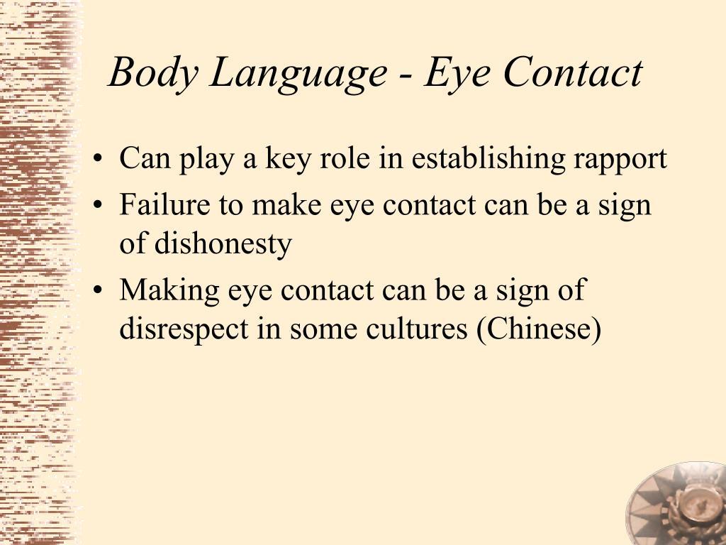 Body Language - Eye Contact